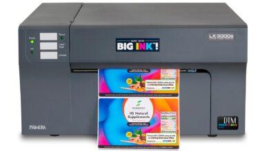 DTM LX3000e Color Label Printer With 'Big Ink'